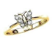 1/4 CT FASHION OF LIFE 14K GOLD DIAMOND RING