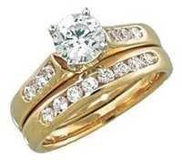 1.00 CT BRIDAL OF LIFE 14K GOLD DIAMOND RING