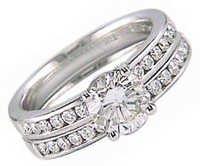 1.07CT BRIDAL OF LIFE 14K GOLD DIAMOND RING