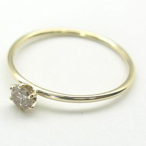 1/10Ct Prong Solitaire Gold Diamond Ring