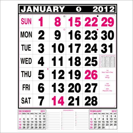 Wall Hanging Calendars