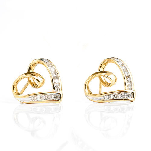 1/3CT CHAMPAGNE OF LIFE 14K GOLD DIAMOND EARRING