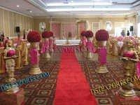 Wedding Aisleway Golden Statues