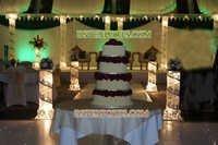 Wedding Aisleway Metal Silver Crystal Pillars