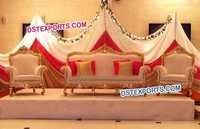 Indian Wedding Stage Gold Sofa Set