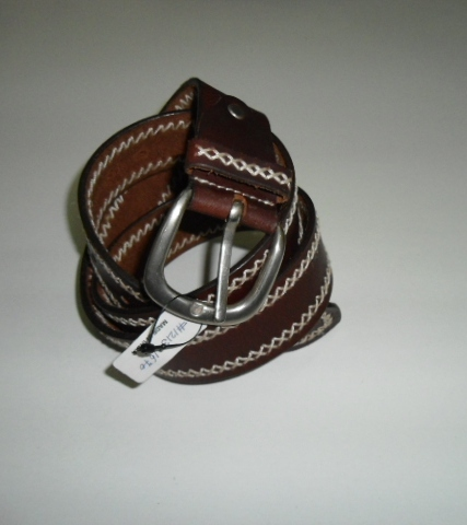Thread Work Leather Belt