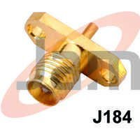 SMA Female Panel Mounting Type (PTFE) Gold Plate