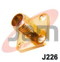 SMA Female Square Panel Mounting PTFE ( Gold Pla