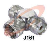 UHF Tee Conn. (1 UHF Plug  2 UHF Socket)