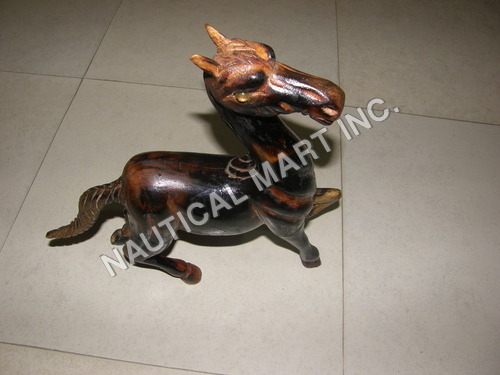 WOODEN HOME DECORATIVE HORSE