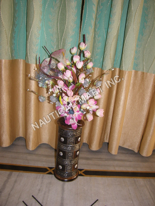 WOODEN DECORATIVE VASE FLOWER