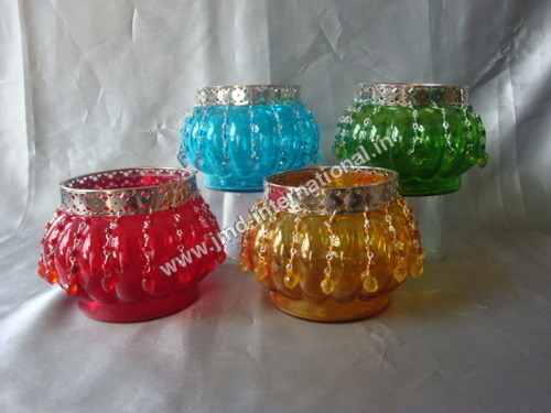 Antique Glass Tea Light