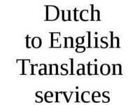 Dutch to English Translation Services