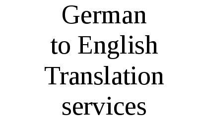 German to English Translation Services