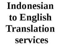 Indonesian To English Translation
