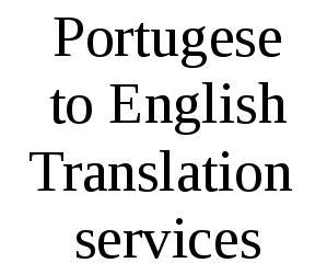 Portugese To English Translation