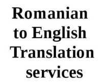Romanian to English Translation Services