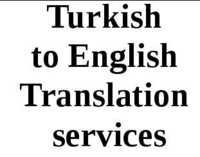 Turkish To English Translation Services