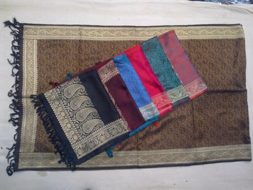 100% silk with zari boarder