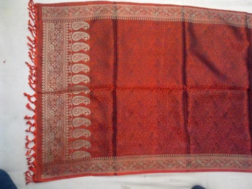 100% silk scarfs in resham zari