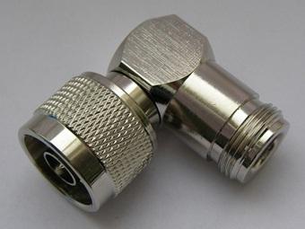 N Male to N Female Right angle adaptor