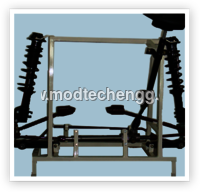 Cut Section Model Of Rack & Pinion Type Steering