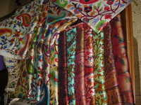 Silk wool printed kani