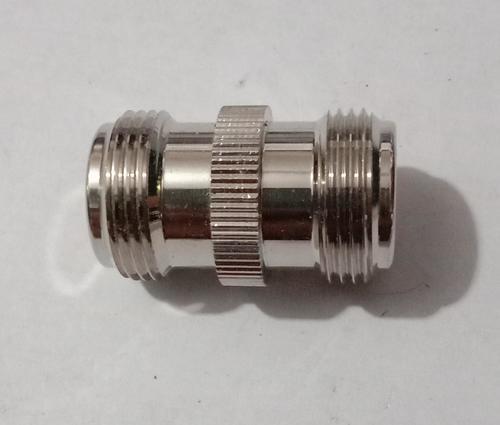 Straight N female to F female adapter