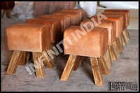 Vintage Leather Stools