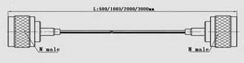 N male to N male 2 meters RG 179 cable