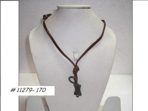 Leather Pendant Necklace