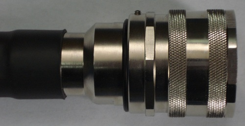 DIN male clamp connector for LMR 500 cable