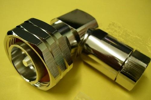DIN male right angle connector for half inch super flexible cabe