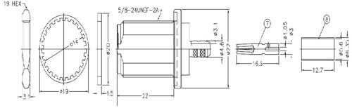 n female bulkhead crimp connector for LMR 200 cable