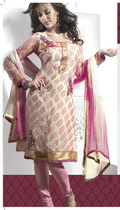 Gorgeous Deep Pink & Pale Buttercream Salwar Kameez
