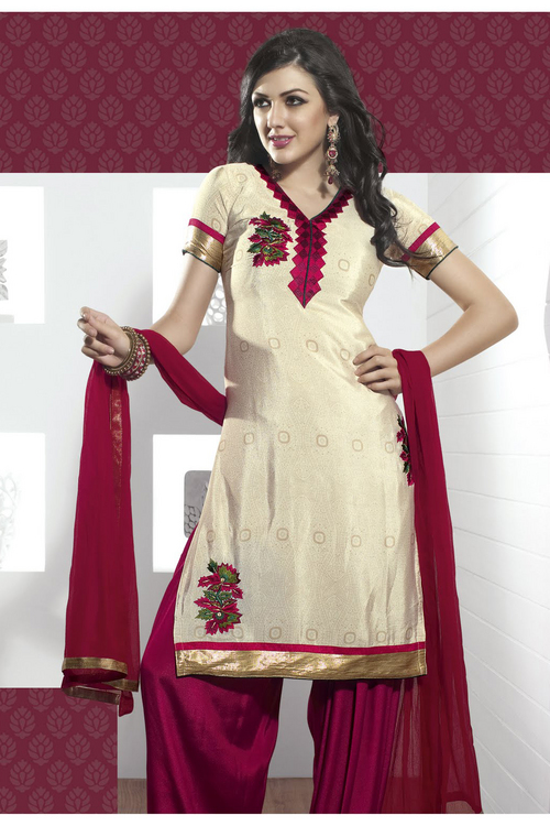 Aesthetic Pale Buttercream Salwar Kameez