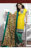 Captivating Yellow Salwar Kameez