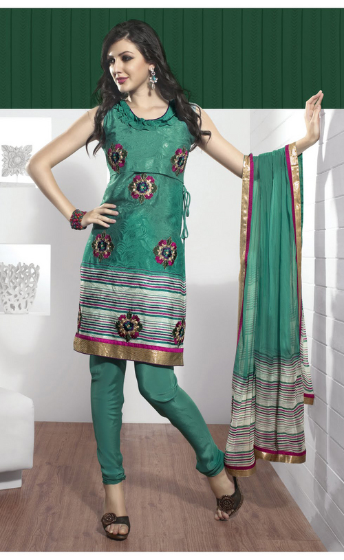 Ethnic Sea Green Salwar Kameez