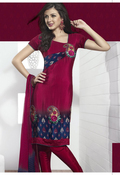 Unique Deep Pink Salwar Kameez