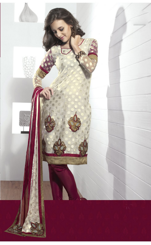 Fascinating Ivory Salwar Kameez