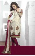 Fascinating Ivory Salwar Kameez