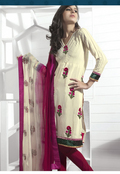 Gorgeous Pale Buttercream Salwar Kameez