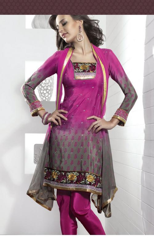 Captivating Pink Salwar Kameez