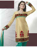 Magnificient Beige Brown Salwar Kameez