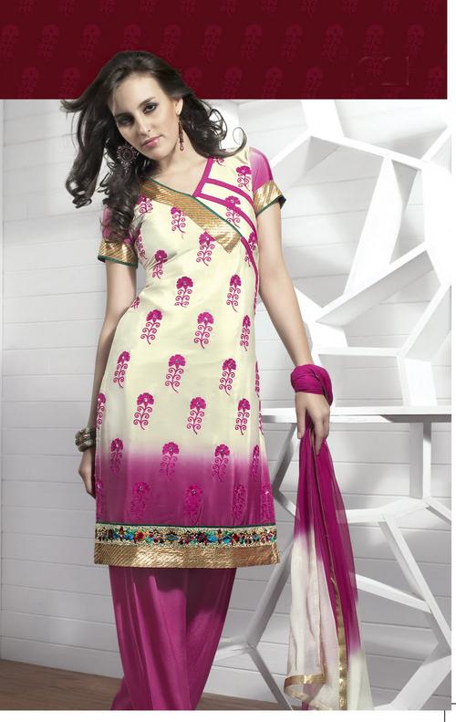 Alluring Pink Salwar Kameez
