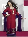 Adorable Maroon Salwar Kameez