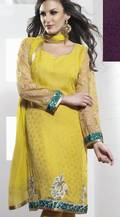 Aesthetic Yellow Salwar Kameez