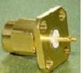SMA male 4 hole connector