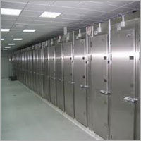 Multiple cadaver s, or Mortuary cold room