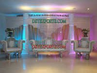 WEDDING SILVER STAGE DECORATIONS